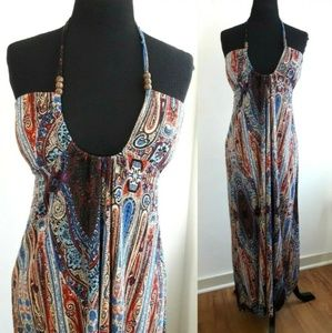 Rock & Roll Cowgirl Multicolor Halter dress Medium